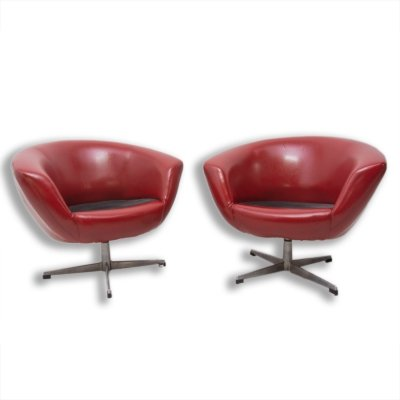 Pair of Mid Century swivel chairs by UP Zavody, 1970s