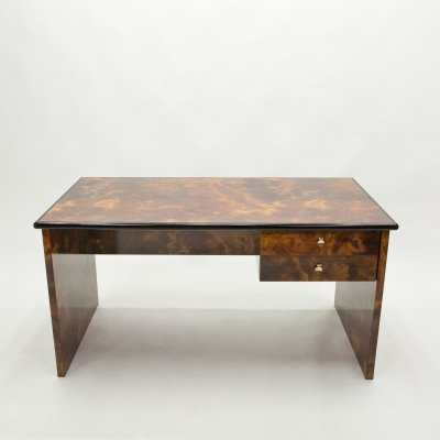 Guy Lefevre for Ligne Roset bronze lacquered desk, 1970s