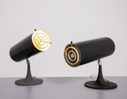 Gino Sarfatti Pair of Model 569N Table Lamps for Arteluce, 1956
