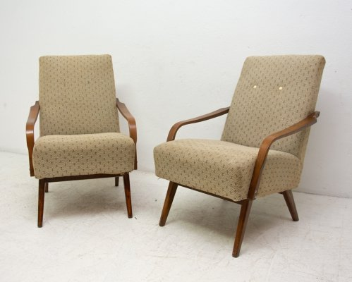 Pair of midcentury armchairs by Jaroslav Šmídek, 1960s