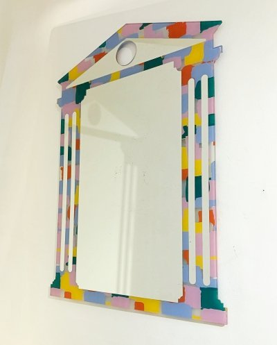 Wall Mirror by Nanda Vigo And Alessandro Mendini, Italy 1990s