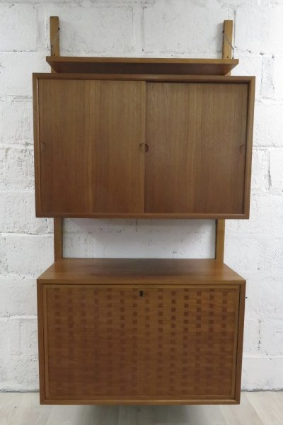 Teak wall unit by Poul Cadovius, 1960s