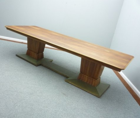Art Deco Walnut Dining Table & Conference Table, 1920s