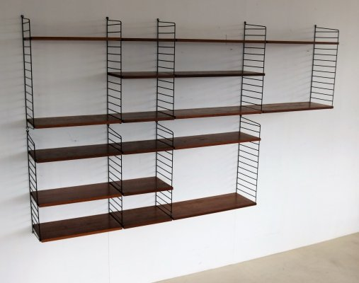 Wall unit by Nisse Strinning for String Design AB, 1960s