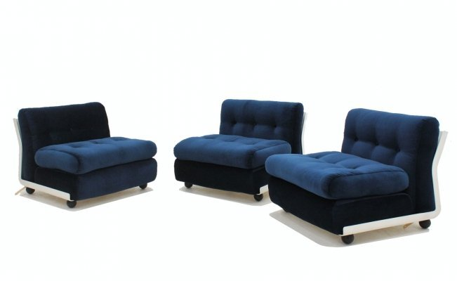 Vintage Amanta armchairs by Mario Bellini for C&B 1960s