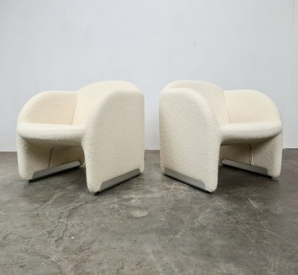 Set of 2 Ben chairs by Pierre Paulin for Artifort, 1970s