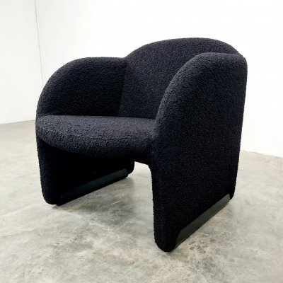 Black boucle Ben chair by Pierre Paulin for Artifort, 1970s