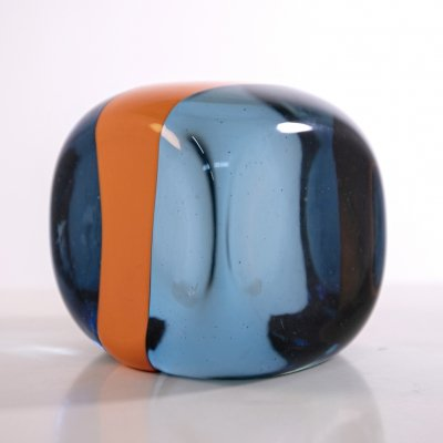 Decorative glass Cube by Pierre Cardin for Venini, signed 1979