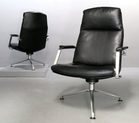Swivel 3-ray foot FK 86 armchair by Preben Fabricius for Walter Knoll, 1980s