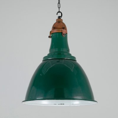Green British pendant lights by Simplex