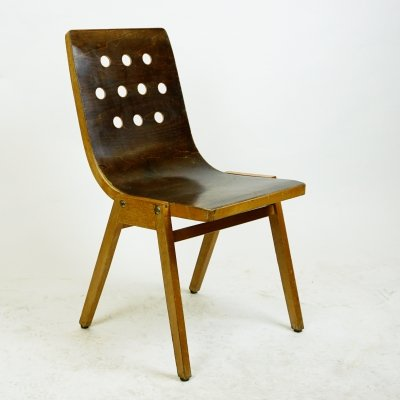 Austrian Midcentury Stacking Chair by Roland Rainer