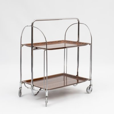 Classic 1960s 'Dinett' serving trolley with rosewood look