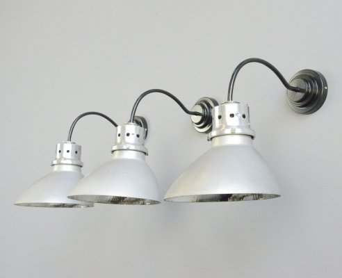 Wall Mounted Mercury Glass Lights by Gecoray, Circa 1930s