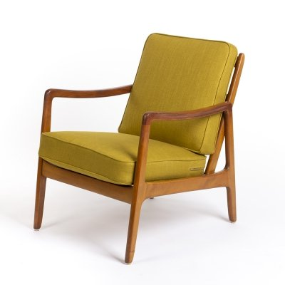 Vintage Danish lounge chair by Ole Wanscher for France & Daverkosen, 1960s