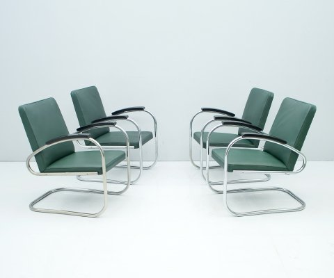 Set of 4 Mauser RS 7 Cantilever Steel Tube Lounge Chairs