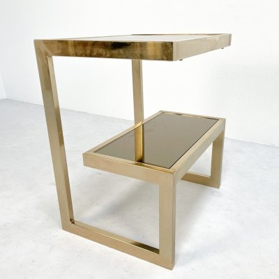 G-shape side table by Belgo Chrom, 1980s