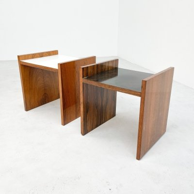 Two Alfred Hendrickx side tables, 1960s