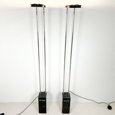 Pair of Gesto Terra floor lamps by Bruno Gecchelin for Skipper / Pollux, 1980s