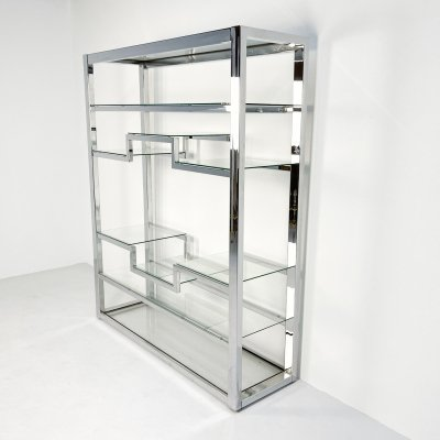 Luxurious chrome etagere, 1980s