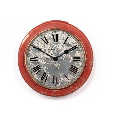 Antique reclaimed Pulsynetic electric industrial slave clock by Gents of Leicester, 1920s