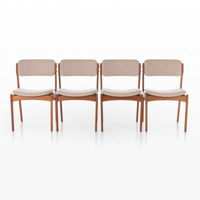 Set of 4 Model 49 dining chairs by Erik Buch for O. D. Møbler, 1960s