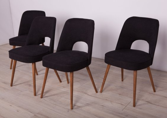 Set of 4 Dining Chairs by Oswald Haerdtl for TON, 1960s