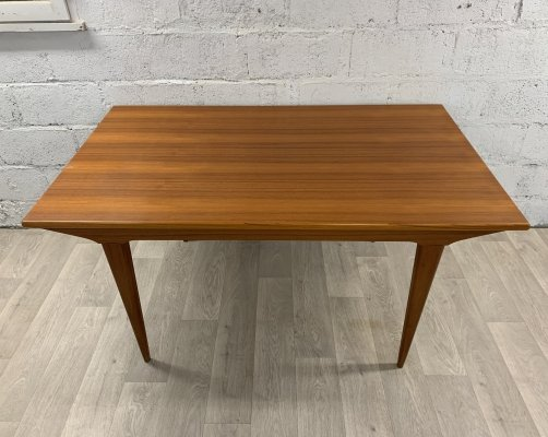 Mid-Century Scandinavian Teak Dining Table with Extensions, 1960s