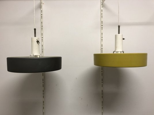 Pair of Model '4017' Ceiling Lamps by J. Hoogervorst for Anvia, 1960s