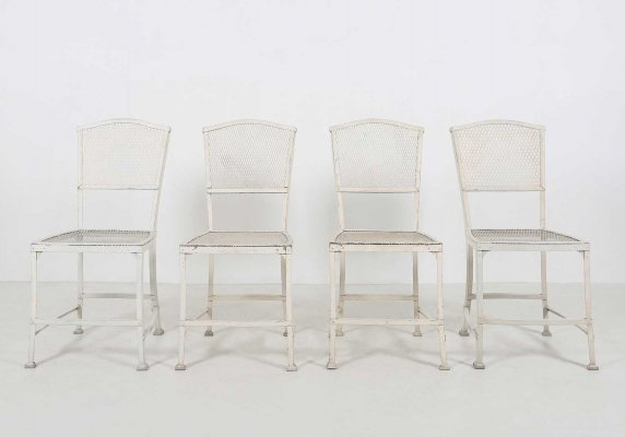 Set of four garden chairs by Gustave Serrurier-Bovy, 1903