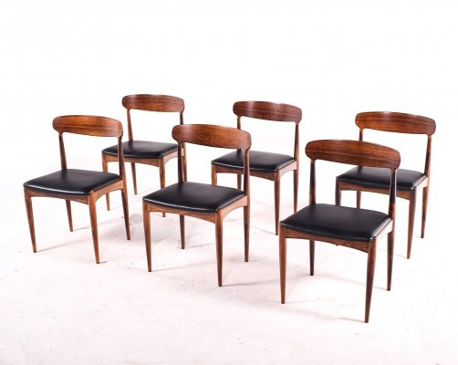 Rosewood Dining Chairs by Johannes Andersen for Uldum M∅belfabrik