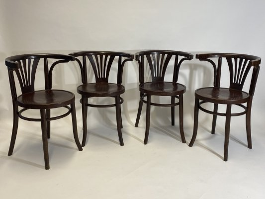 Set of 4 Thonet chairs, 1930s