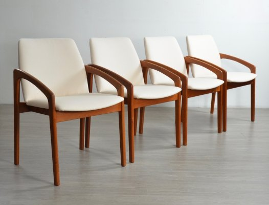 Set of Four 'Paper-Knife' Dining Chairs by Kai Kristiansen