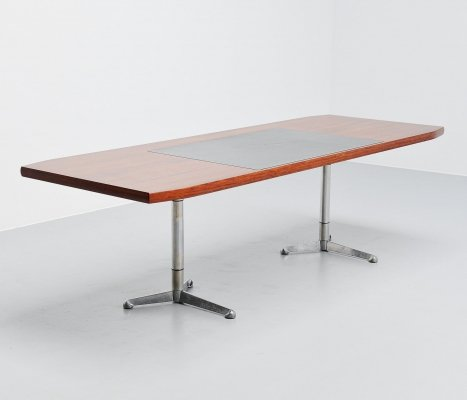 Osvaldo Borsani writing desk table by Tecno Italy, 1954