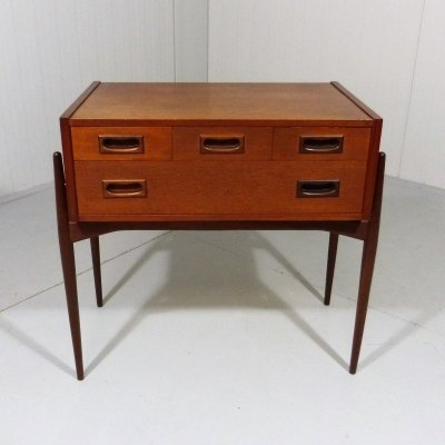 Small teak chest of drawers , 1960's