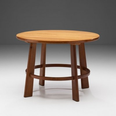 Circular Coffee Table by Danish Cabinetmaker, Denmark ca 1950s