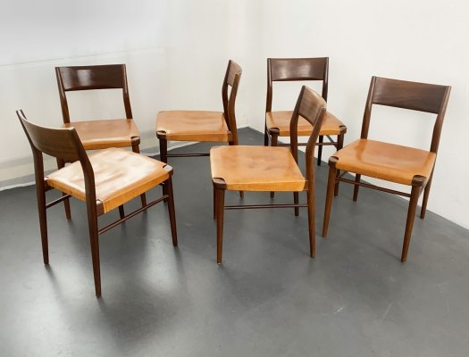 Set of 6 Dining Chairs by Georg Leowald for Wilkhahn, Germany 1950s
