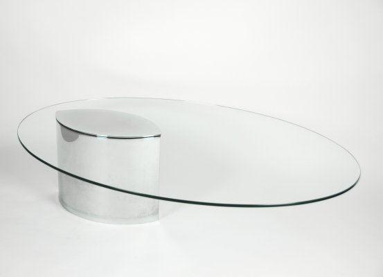 Stainless Steel Lunario Coffee Table by Cini Boeri for Knoll International, 1970