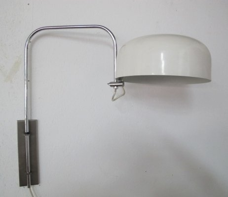 Vintage metal elbow wall lamp, 1960s