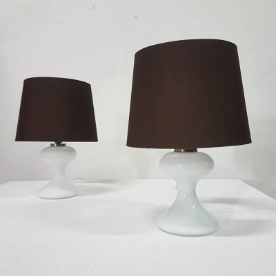 Set of 2 ML1 table lamps by Ingo Maurer for Design M, Germany 1960s