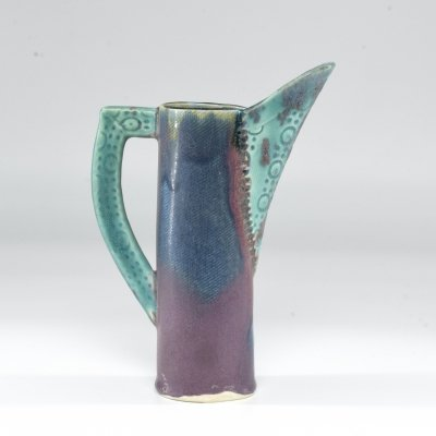 1950s French Ceramic Decorative Pitcher