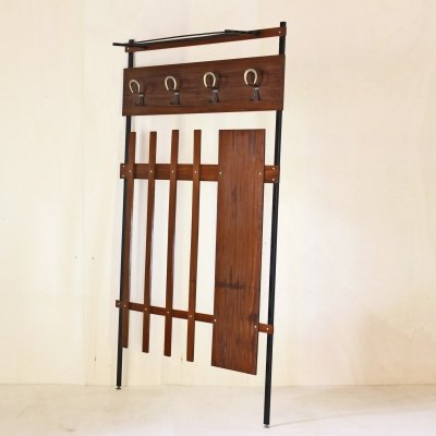 1950s vintage coat rack in scandinavian style