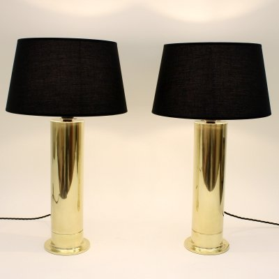 Pair of Hans Agne Jakobsson 'B 132/59' table lamps made by Markaryd, Sweden 1960