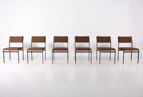 Set of 6 Japanese Serie chairs by Cees Braakman for Pastoe, 1960's