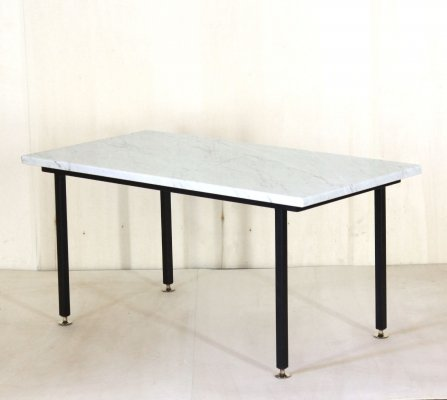 1960 Vintage Coffee table with carrara marble top