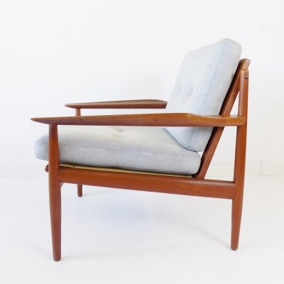 Glostrup teak chair Easychair by Arne Vodder