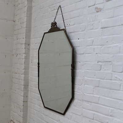 Copper Art Deco mirror