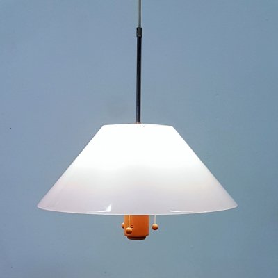 Wood & plexiglass pendant lamp by Lars Bessfelt for Atelje Lyktan, Sweden 1970