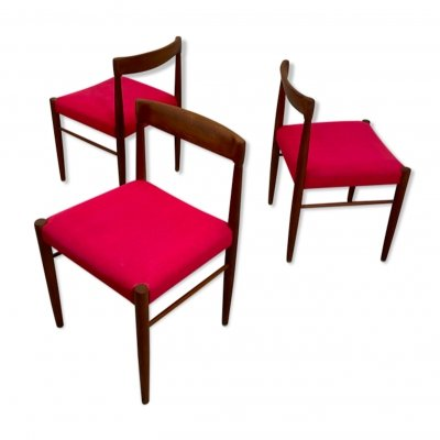 Set of 3 Danish Teak Dining Chairs by H. W. Klein for Bramin, 1960s