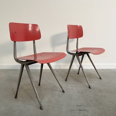 Pair of Result chairs by Friso Kramer for Ahrend de Cirkel, 1960s