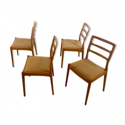 Set of 4 MidCentury Teak Dining Chairs by Casala, 1960s
